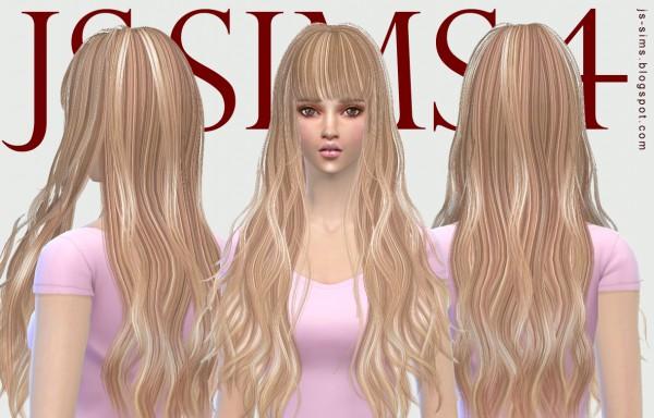 JS Sims 4: B flysims Hair 049 Retexture