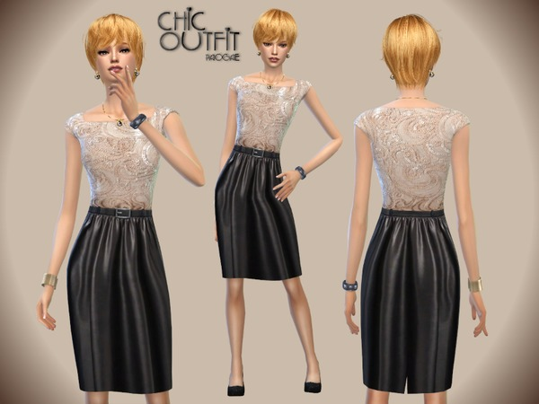 The Sims Resource: Chic Outfit by Paogae