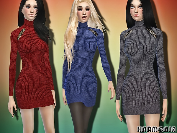 The Sims Resource Cool Look Wool Sweater Dress By