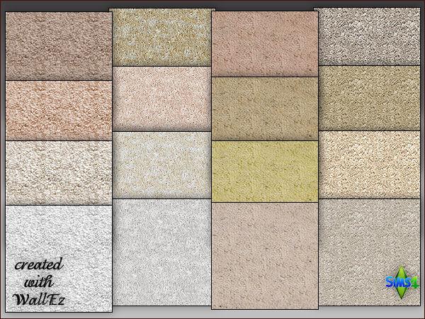 Arte Della Vita: 4 carpet floors in 4 different colors