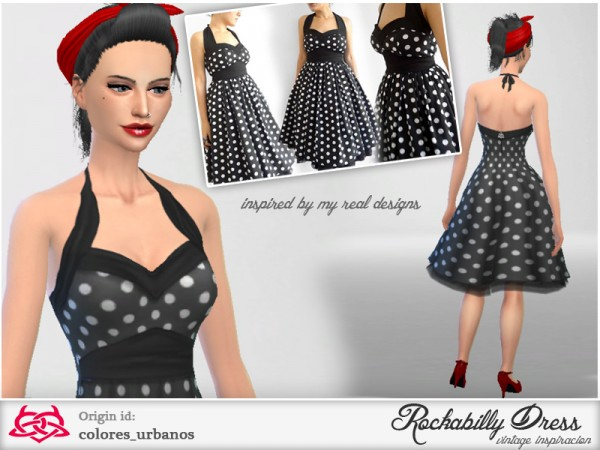The Sims Resource: Rockabilly Dress v2 by Colores  Urbanos