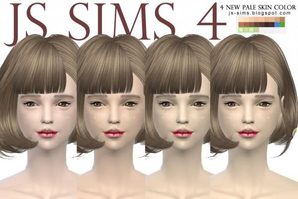JS Sims 4: New Skin & Makeup Collection