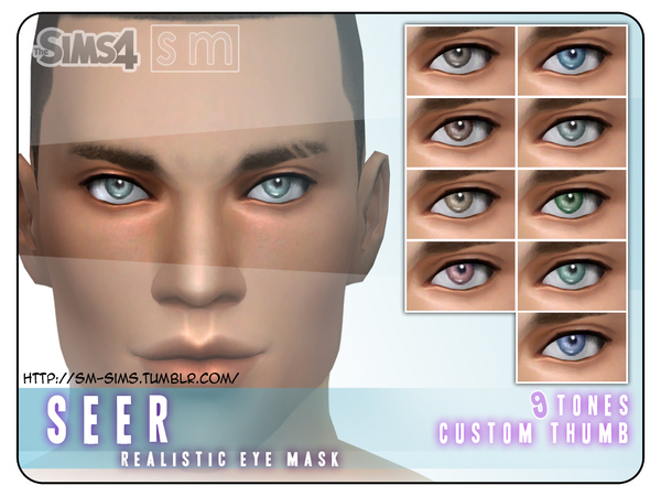 The Sims Resource: Realistic Eye Mask by Screaming Mustard