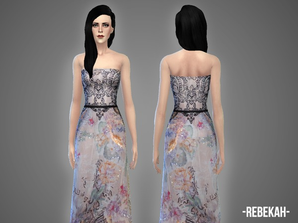 The Sims Resource: Rebekah   gown by April