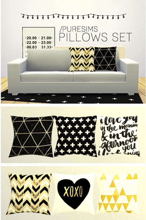 Pure Sims: Pillows set 1
