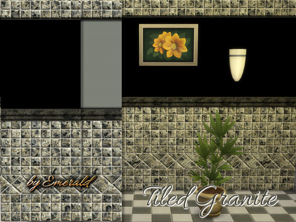 The Sims Resource: Tiled Granite wall by emerald