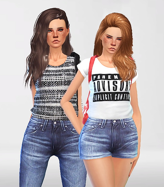 Pure Sims: Denim set