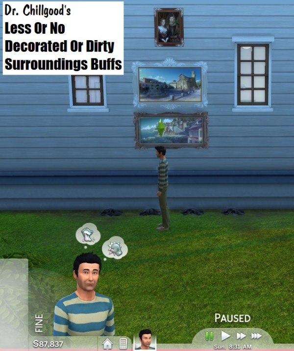 Mod The Sims: Less/No Good/Bad Surroundings Buffs by DrChillgood