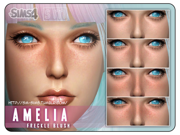 The Sims Resource: Freckled Blush Amelia by Screaming Mustard