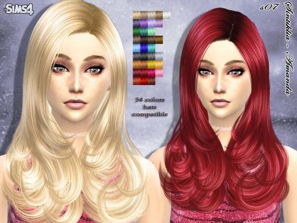 The Sims Resource: Hair s07 Amanda by Sintiklia