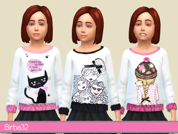 The Sims Resource: Pullover for girls by Birba32