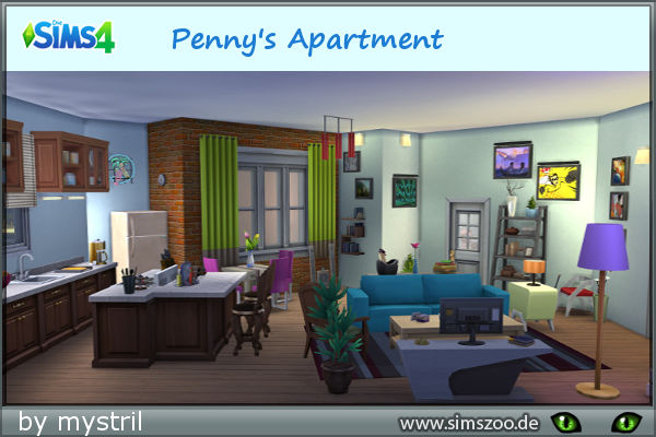 blackys sims 4 zoo penny apartment by melanie sims 4