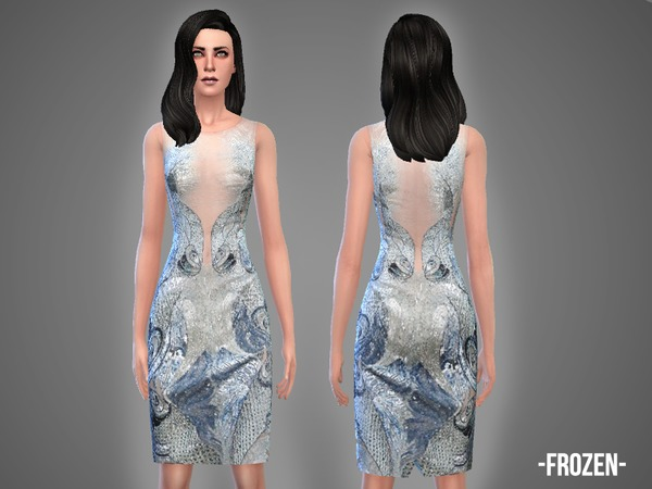 The Sims Resource: Frozen   dress by April