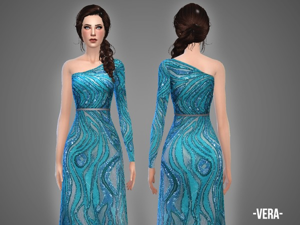 The Sims Resource: Vera   gown by April
