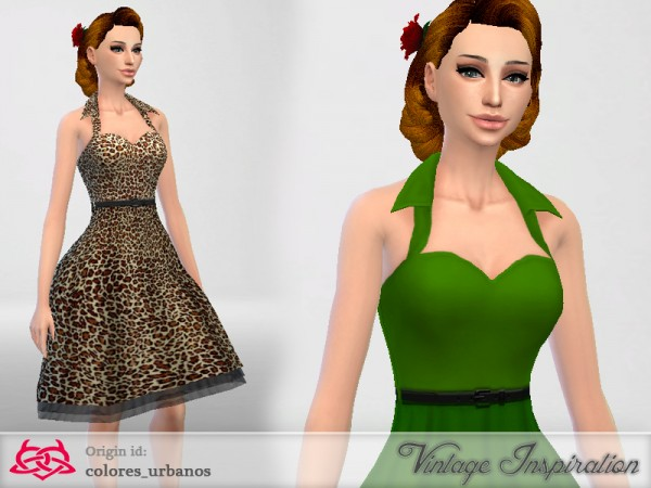 The Sims Resource  Rockabilly Dress v4 by Colores Urbanos. The Sims Resource  Rockabilly Dress v4 by Colores Urbanos   Sims 4