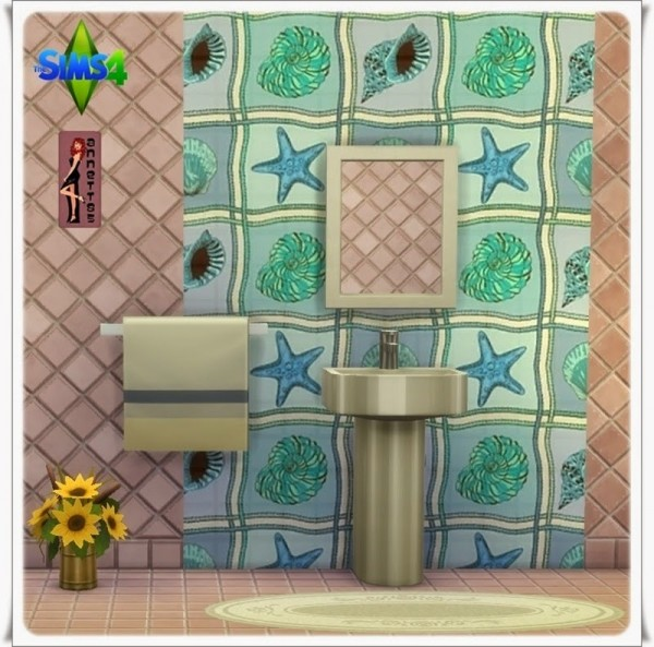 Annett`s Sims 4 Welt: Bathroom Wallpaper Sea