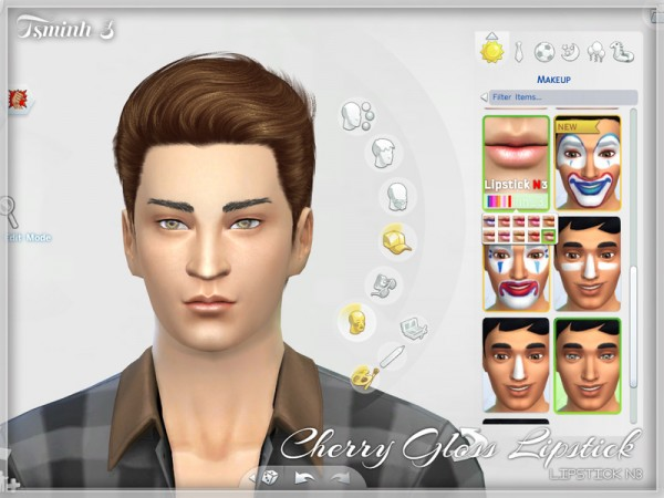 The Sims Resource: Cherry Gloss Lipstick by tsminh 3
