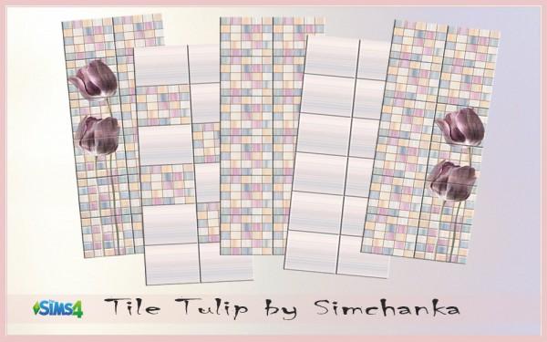 Ihelen Sims: Tile Tulips by Simchanka