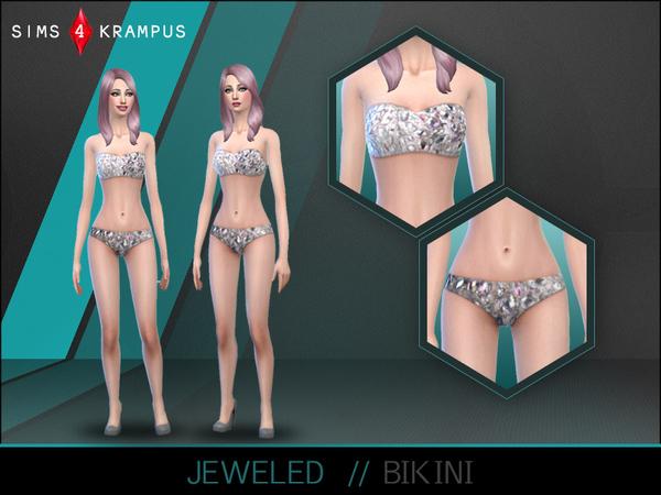 The Sims Resource: Jeweled Bikini by SIms 4 Krampus