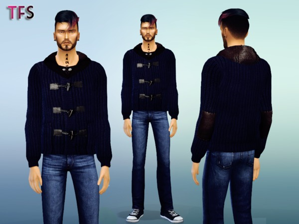 The Sims Resource: Blue Sweater by TwistedFate