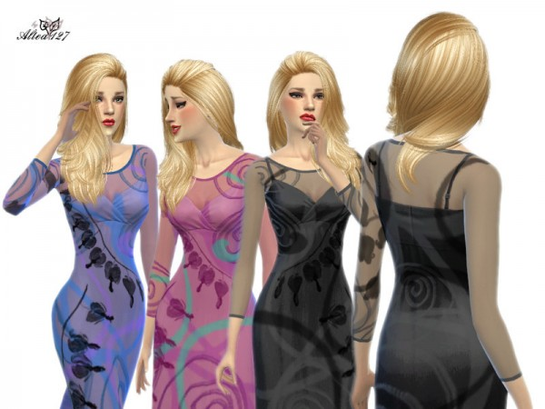The Sims Resource: Long trasparent dress by Altea 127