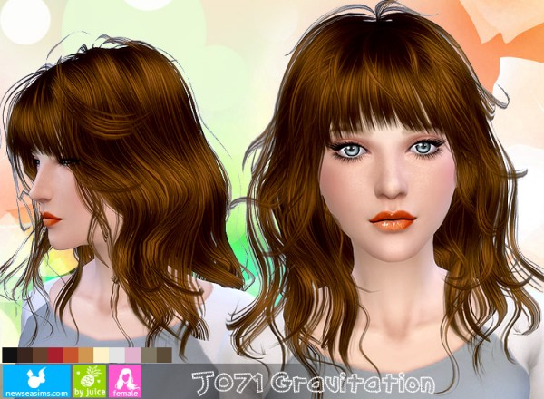 NewSea: J071 Gravitation Hairstyle • Sims 4 Downloads