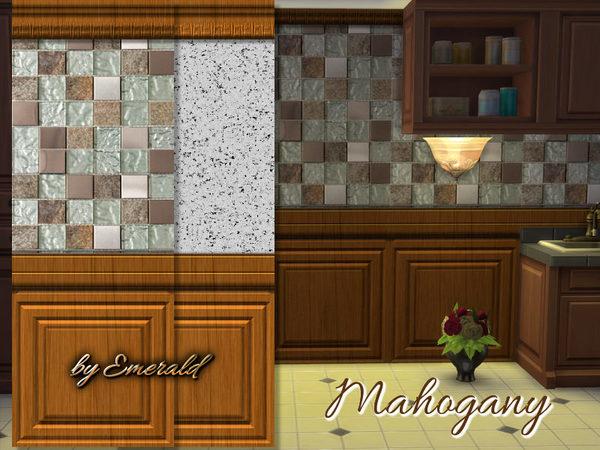 The Sims Resource: Mahogany walls by emerald