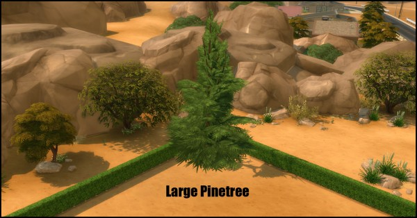 Mod The Sims: Unlocked Pinetree Pack (7 new trees) by Bakie