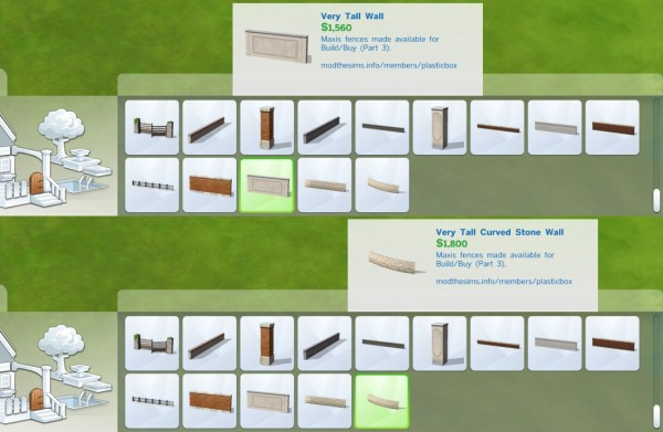 Mod The Sims: Liberated Fences 3 by plasticbox