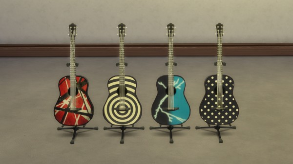 Mod The Sims: Metal Legends Guitar Pack by ironleo78