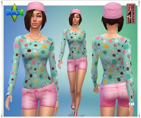 Annett`s Sims 4 Welt: Shirts & Shorts Rebecca