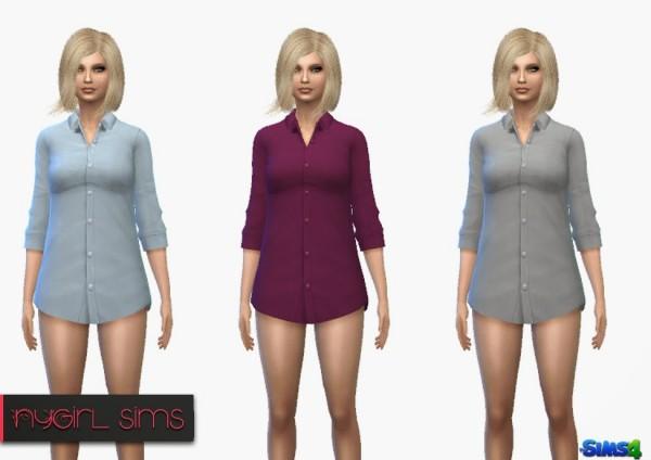 NY Girl Sims: Plain Business Shirt
