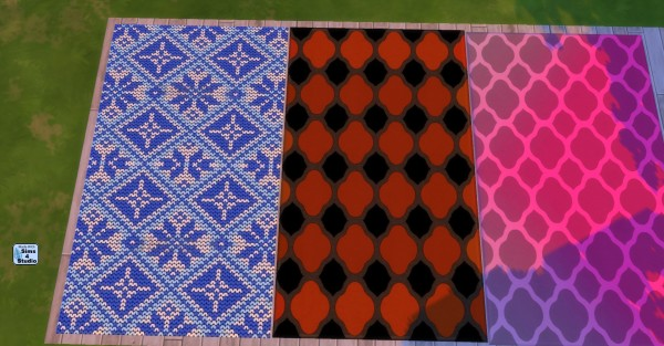 Mod The Sims: 16 Spunky Patterned Rugs by wendy35pearly