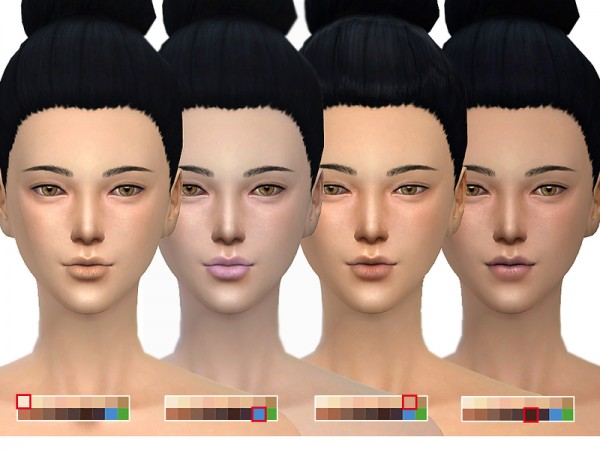 The Sims Resource: Asian skintones 1.0 by S Club
