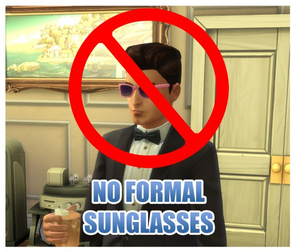 Mod The Sims: Glasses Category Fixes by Menaceman44