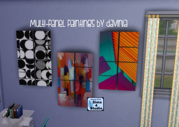Mod The Sims: Life of Abstraction Multipanel Painting by Davinia
