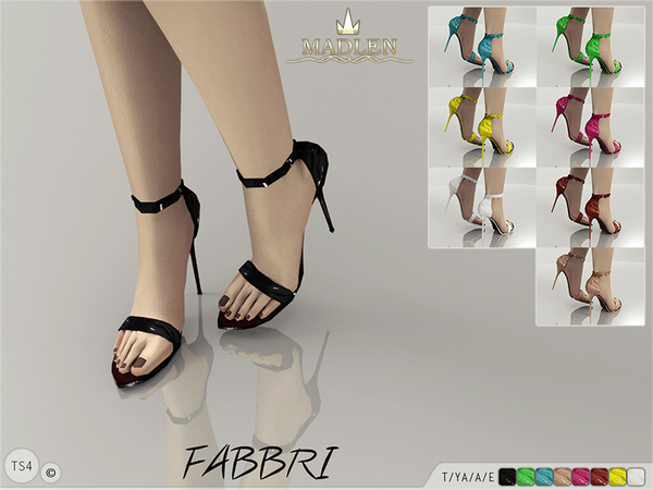The Sims Resource: Fabbri Shoes by Madlean