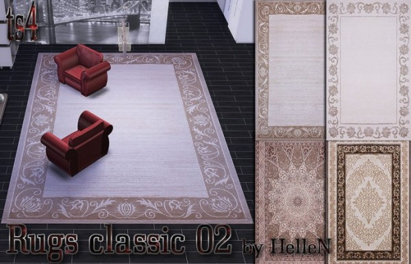 Sims Creativ: Rugs classic 02 by HelleN