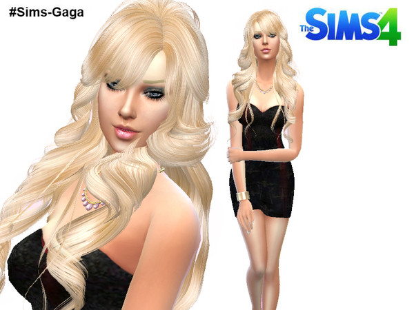 The Sims Resource: Dress Black by Sims Gaga
