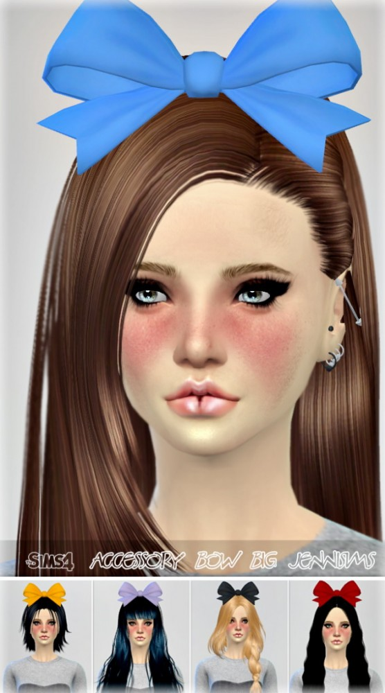 Jenni Sims New Mesh Accessory Haire Bow Big Sims 4
