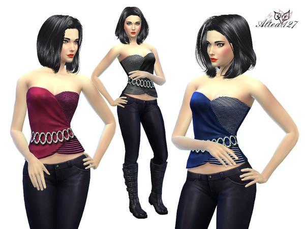 The Sims Resource: Elegant Top by Altea127