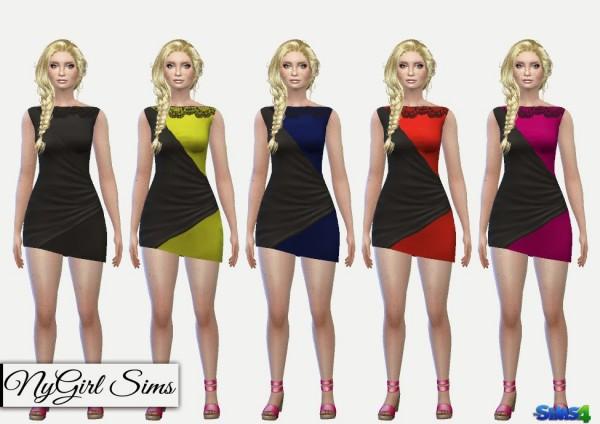 NY Girl Sims: Two Tone Splice Bodycon Dress