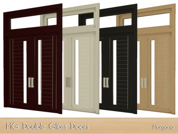 The Sims Resource: MG Double Doors by Morgana14