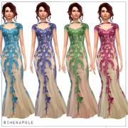 Simenapule: Red Flower Dress