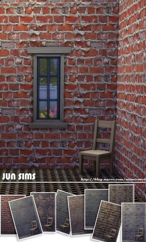 JUN Sims: Masonry wall