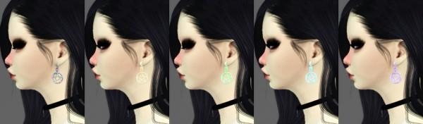 Decay Clown Sims: Pentagram earrings