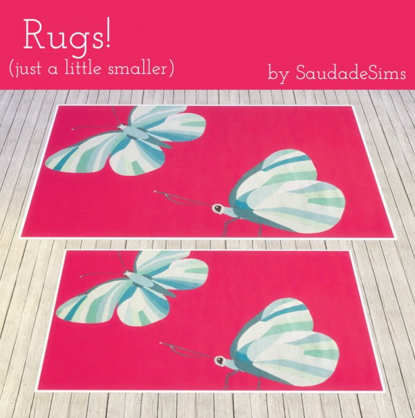 Saudade Sims: Butterfly rugs