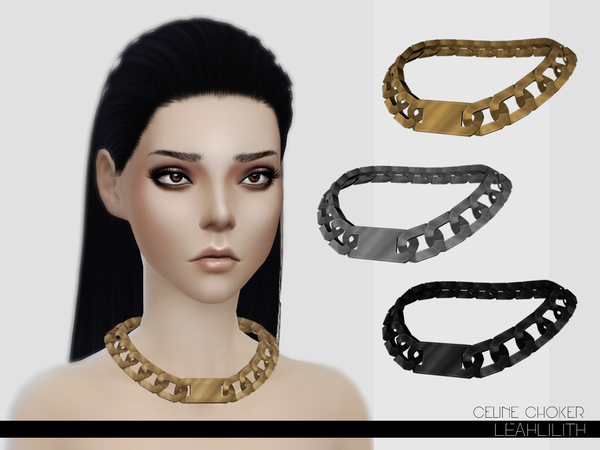 The Sims Resource: Celine Choker by LeahLillith
