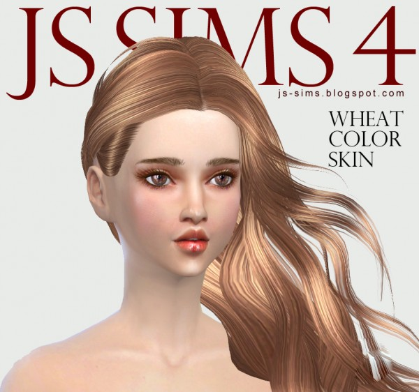 JS Sims 4: Wheat Color Skin