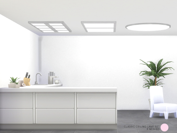 The Sims Resource: Classic Ceiling Lamp Set by DOT